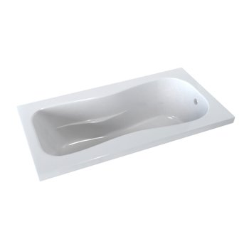 """Valley Acrylic PRO 60"""" W x 32"""" D White Acrylic Drop-In Bathtub with Classic Sculpted Interior and Molded Armrests, 60"""" W x 32"""" D x 19"""" H"""
