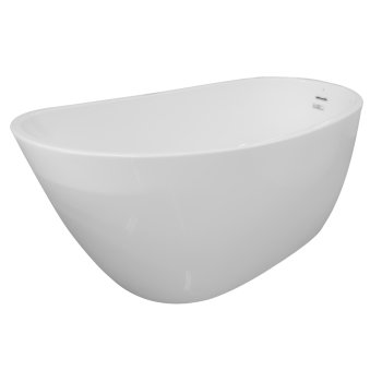"""Valley Acrylic SERENITY 60"""" White Contemporary Oval Freestanding Acrylic Insulated Bathtub, 59-1/2"""" W x 28-3/4"""" D x 27"""" H"""