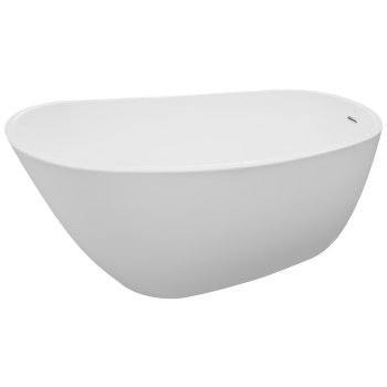 """Valley Acrylic SERENITY 68"""" White Contemporary Oval Freestanding Acrylic Insulated Bathtub, 68-1/4"""" W x 31-1/4"""" D x 23-1/2"""" H"""
