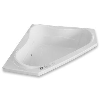 "Valley Acrylic Vita 60"" W x 60"" D White Acrylic Corner Drop In Bathtub with Large Contoured Interior, 59-3/4"" W x 59-3/4"" D x 22"" H"