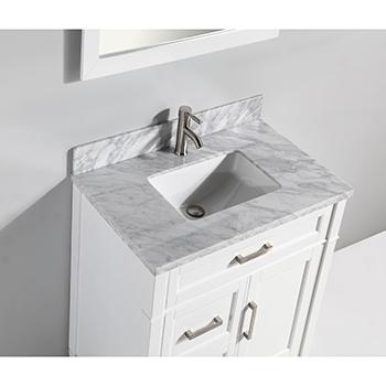 36 W Single Sink Bathroom Vanity Set With Carrara Marble Vanity Top And Vanity Mirror By Vanity Art Kitchensource Com