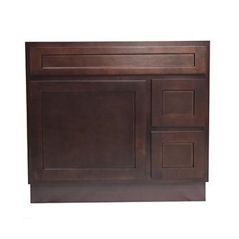 36 Inch Vanity Cabinet Brown, Knockdown