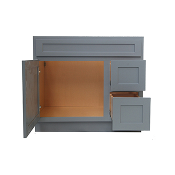 36 Inch Vanity Cabinet Grey, Knockdown