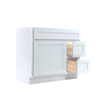 36 Inch Vanity Cabinet White, Knockdown