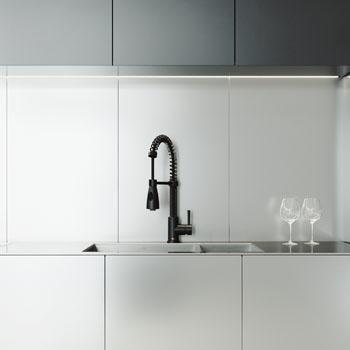 Vigo Brant Pull-Down Spray Kitchen Faucet, Matte Black
