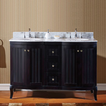 Espresso w/ Round Sinks - No Mirror