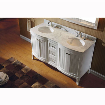 White w/ Round Sinks Overhead Side View