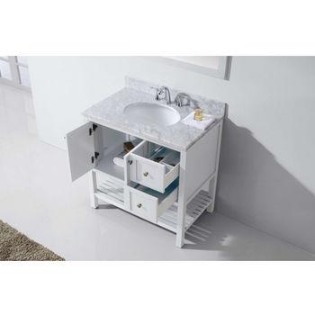 Virtu USA 36'' Winterfell Single Sink Bathroom Vanity Set in White