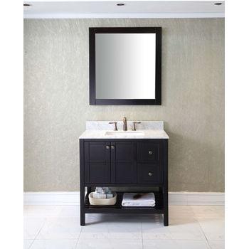 Virtu USA 36'' Winterfell Single Sink Bathroom Vanity Set in Espresso