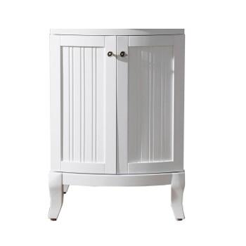 Khaleesi 24 Solid Oak Single Bathroom Vanity Cabinet Cabinet Only In White Finish By Virtu Usa Kitchensource Com