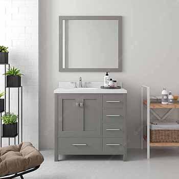 Cashmere Grey, Dazzle White Quartz, Round Sink