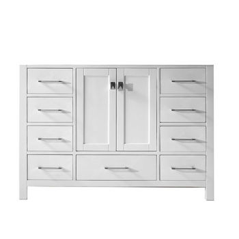 Bathroom Vanities By Virtu USA   Freestanding   Wall Mounted   Virtu USA 48  Caroline Avenue Single Sink Cabinet  White. 54 Inch Bathroom Vanity Single Sink. Home Design Ideas
