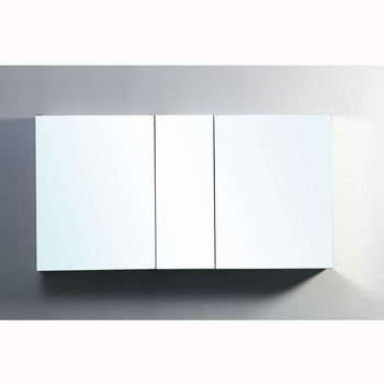 Virtu Usa 50 Confiant Recessed Or Surface Mount Mirrored Medicine Cabinet W X 5 D 26 H