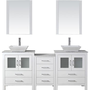 Bathroom Vanities 66 Dior Double Sinks Bathroom Vanity Set In Multiple Finishes With Countertop By Virtu Usa Kitchensource Com