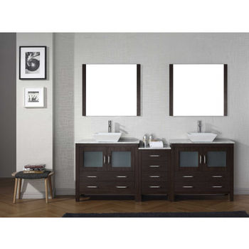 Bathroom Vanities 78 Dior Double Sinks Bathroom Vanity Set In Multiple Finishes With Countertop By Virtu Usa Kitchensource Com