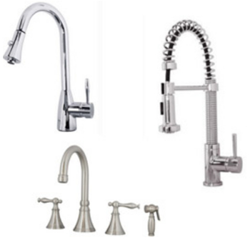 Kitchen Faucets By Virtu Usa Available In Brushed Nickel Or Polished Chrome Finish Kitchensource Com