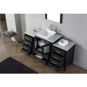 """Virtu USA Dior 60"""" Single Sink Bathroom Vanity Set"""
