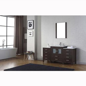 48 Inch Bath Vanity, Bathroom Vanities 64 Dior Single Sink Bathroom Vanity Set In Multiple Finishes With Ceramic Countertop Integrated Sink By Virtu Usa Kitchensource Com