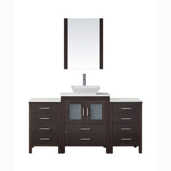 """Virtu USA Dior 64"""" Single Sink Bathroom Vanity Set"""
