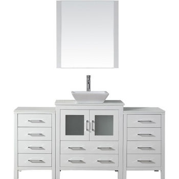 Bathroom Vanities 66 Dior Single Sink Bathroom Vanity Set In Multiple Finishes With Countertop By Virtu Usa Kitchensource Com