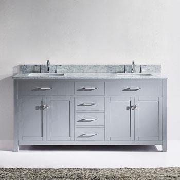 Super Caroline 72 Double Bathroom Vanity Set In Multiple Home Interior And Landscaping Eliaenasavecom