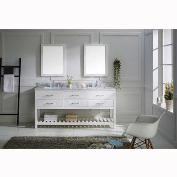 Freestanding bath vanities in handcrafted traditional - Freestanding double bathroom vanity ...