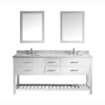 "Virtu USA Caroline Estate 72"" Double Sink Bathroom Vanity Set"