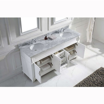 "Virtu USA Victoria 72"" Double Bathroom Vanity Cabinet Set"
