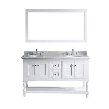 "Virtu USA Julianna 60"" Double Bathroom Vanity Cabinet Set"