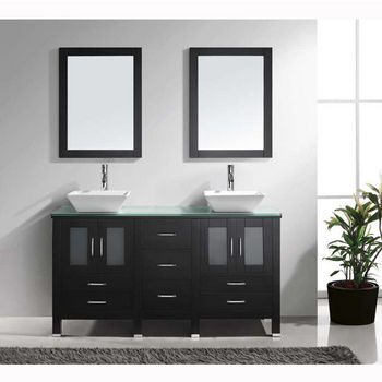 amazing marble countertop sink design and modern faucet.htm 60   bradford double sink bathroom vanity by virtu usa made with  bradford double sink bathroom vanity