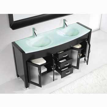 Bathroom Vanities Virtu Usa Ava 63 Complete Double Bath Vanity Set In Multiple Finishes And Countertop Options With Free Shipping Kitchensource Com