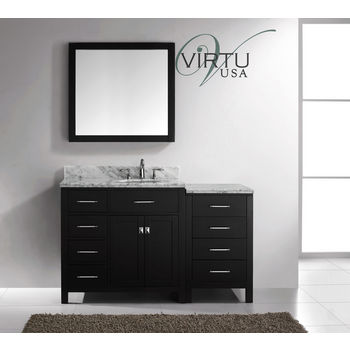Bathroom Vanities Virtu Usa 57 Caroline Parkway Single Round Or Square Sink Bathroom Vanity