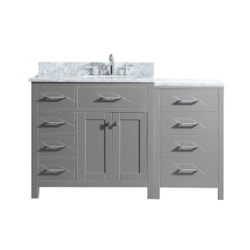 "57"" Vanity Cashmere Grey w/ Top, Square Sink Product View"
