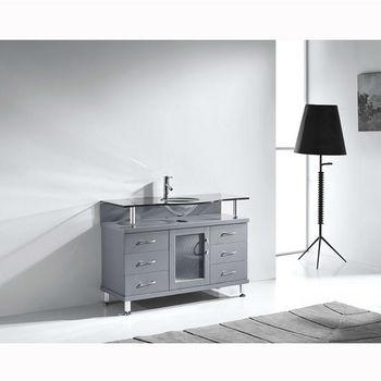 Grey w/ Glass Top Side View