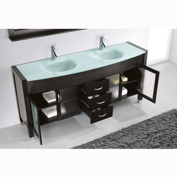 Bath Vanities Ava Complete Double Vanity Set In Espresso Grey Or White By Virtu Usa Kitchensource Com