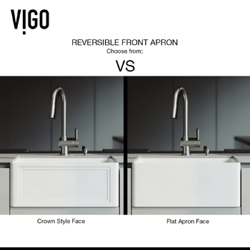 Vigo Kitchen Sink Reversible Front