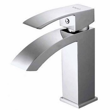 Vigo Satro Single Handle Chrome Finish Faucet, Thin Straight Handle