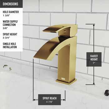 Vigo Faucet Product Dimensions