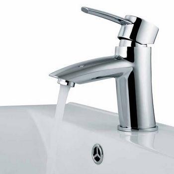 Vigo Single Handle Chrome Finish Faucet, Gooseneck Handle