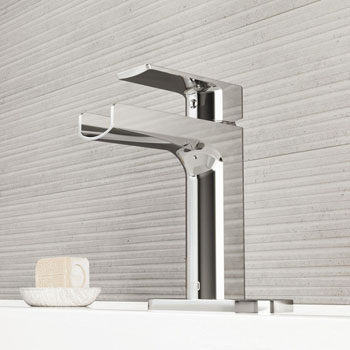 Chrome Faucet with Deck Plate