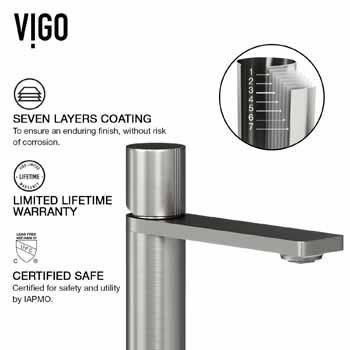 Vigo Limited Lifetime Warranty