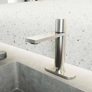 Vigo Brushed Nickel Faucet with Deck Plate Lifestyle View