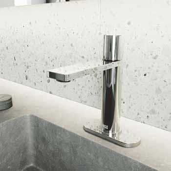 Vigo Chrome Faucet with Deck Plate Lifestyle View