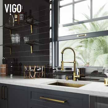 Vigo Matte Gold with Soap Dispenser Lifestyle 3