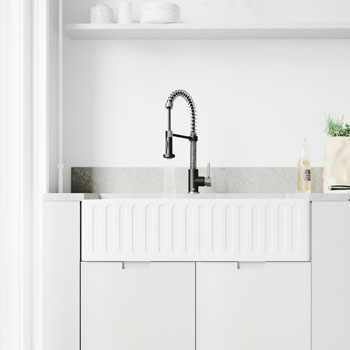 Faucet in Stainless Steel/Matte Black Lifestyle 2