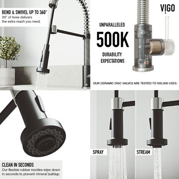 Faucet in Stainless Steel/Matte Black Information