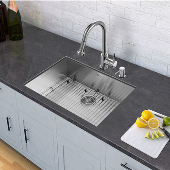 Chrome Pull-Out Wide Spray Kitchen Faucet