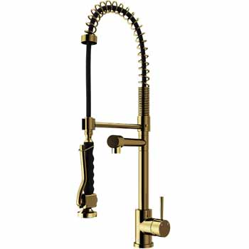 Vigo Matte Gold Faucet Display View