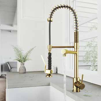 Vigo Matte Gold Faucet Lifestyle 1