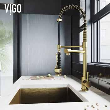 Vigo Matte Gold Faucet Lifestyle 2